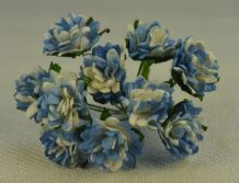 PALE ROYAL BLUE ASTER Daisy (1.3 cm) Mulberry Paper Flowers